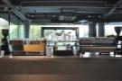 Taking pride of place in the centre, are two espresso machines, a Linea & a Strada.