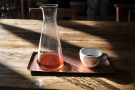 I loved the way that the coffee changed colour as the volume in the beaker went down.