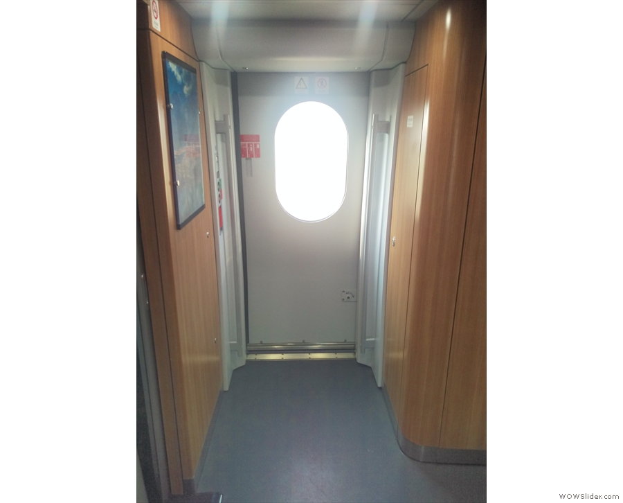 The areas around the doors, which are at each end of the carriage, are spacious as well...