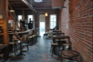 July: the beautiful interior of Sextant Coffee Roasters in San Francisco.