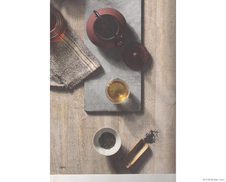 To match last issue's feature on coffee tasting, there's one on tea tasting.