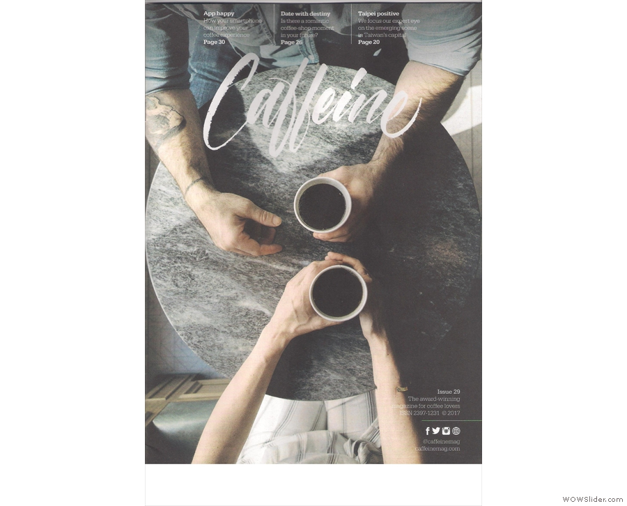 Issue 29 of Caffeine Magazine continues the theme of awesome cover photography!