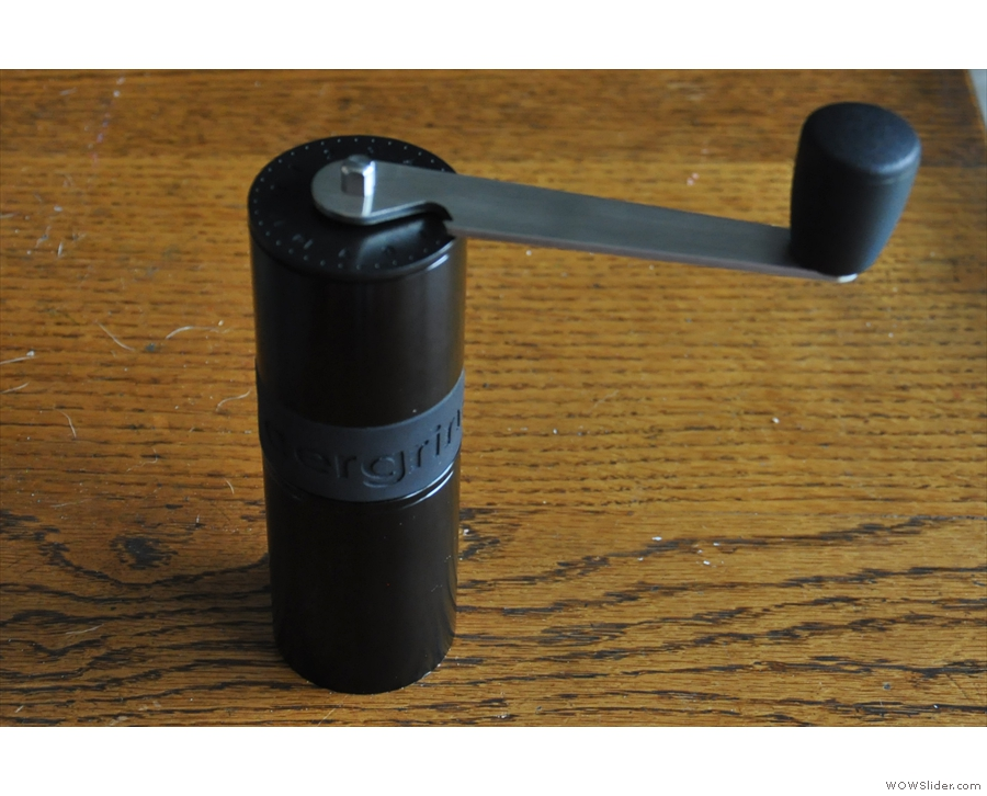 Another new addition, the Knock Aergrind travel grinder, my constant travelling companion.
