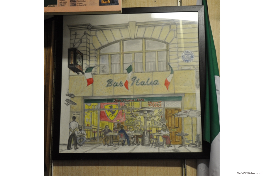 Bar Italia, the painting, in Bar Italia.