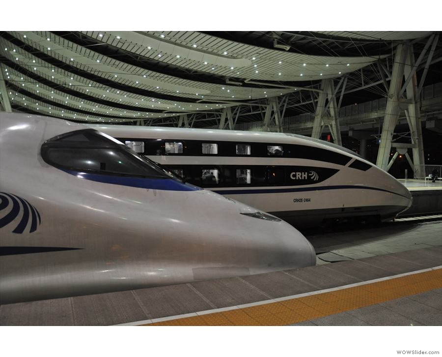 Check out the double-decker high-speed train in the background. One for a future trip!