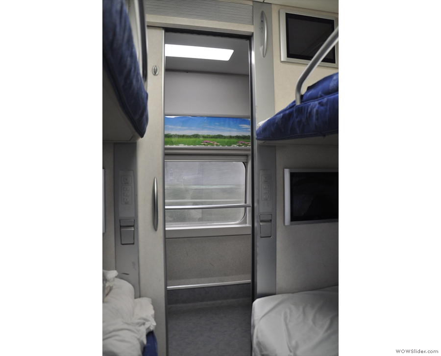 Each sleeping compartment has its own lockable, sliding door.