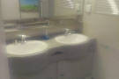 Excuse the poor quality photos: the wash basins at the end of each carriage...