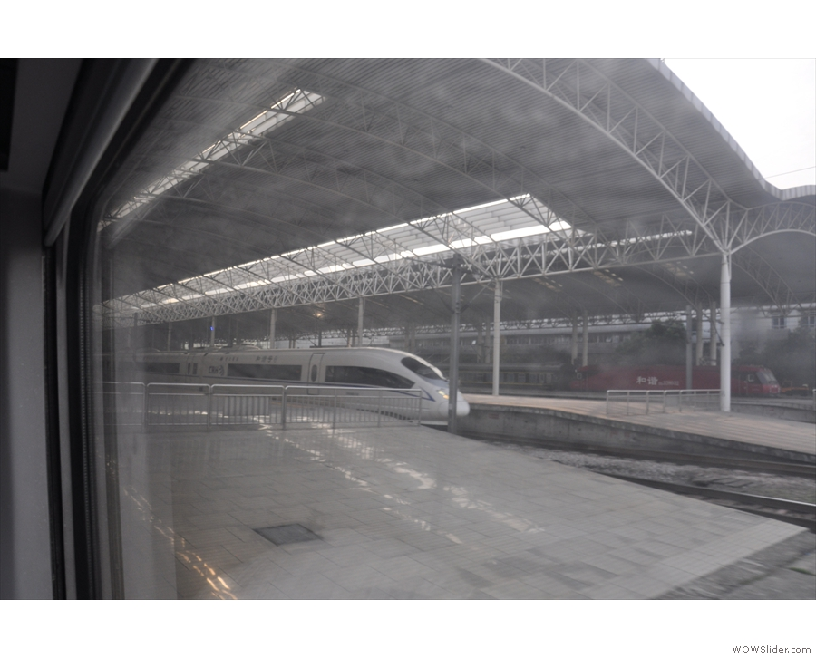 Before long, we were rolling into Shanghai station...
