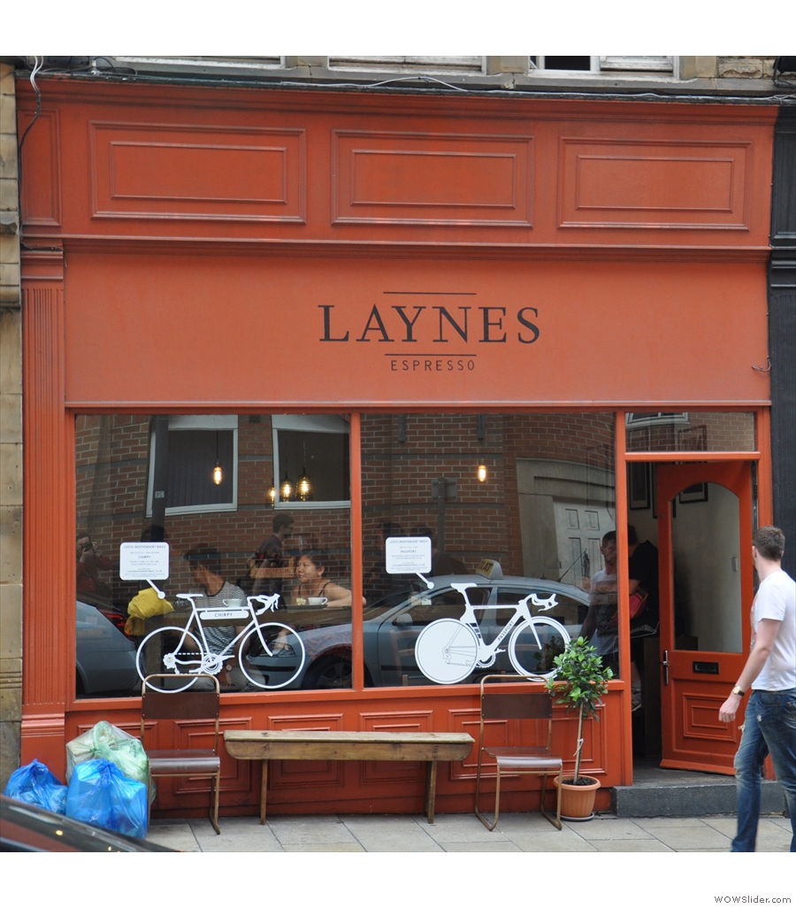 Laynes Espresso, my go-to stop whenever I'm anywhere near Leeds train station.