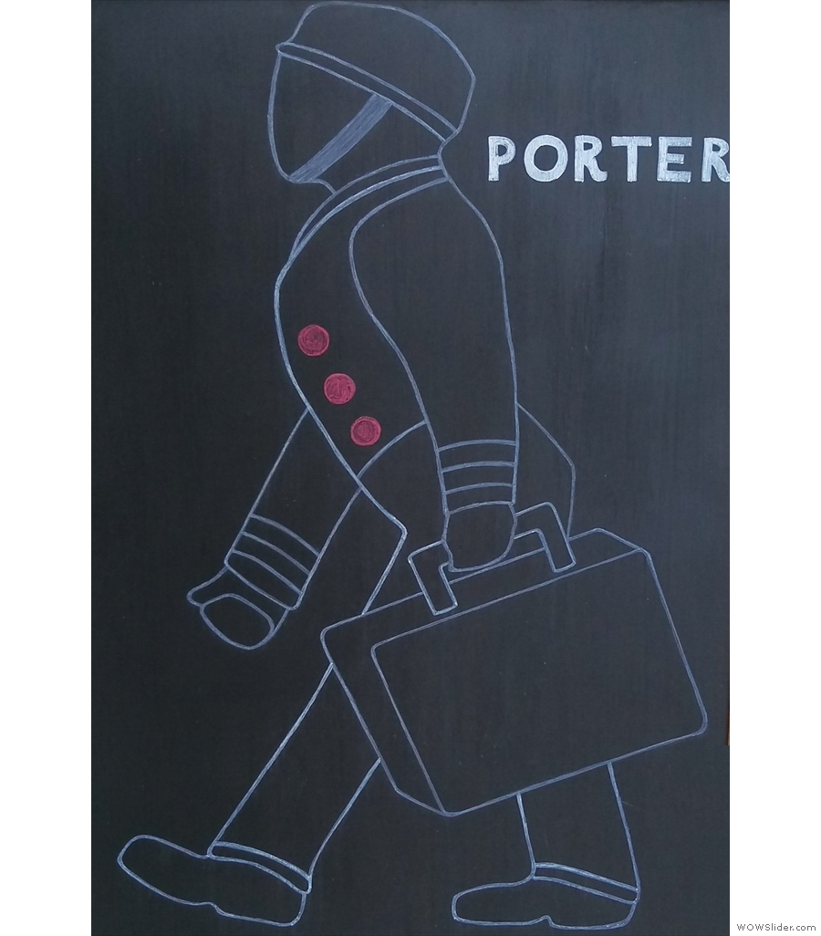 Technically Porter's not in a railway station, since it's closed, it's but close enough for me!