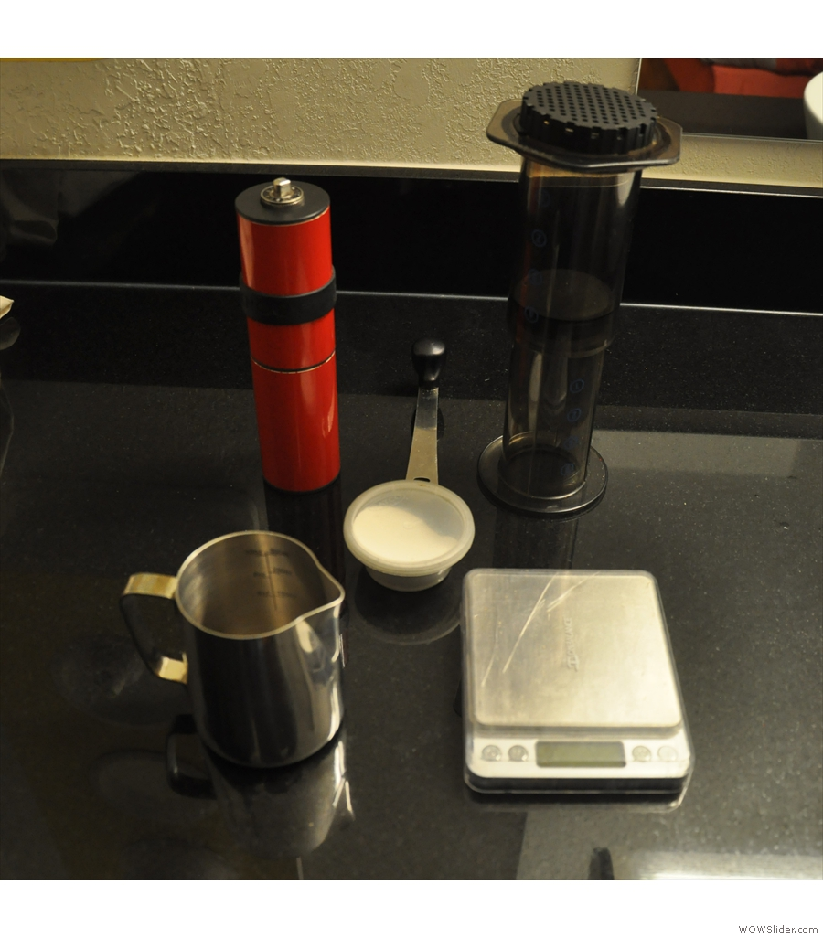 In August I wrote about my travelling coffee kit...