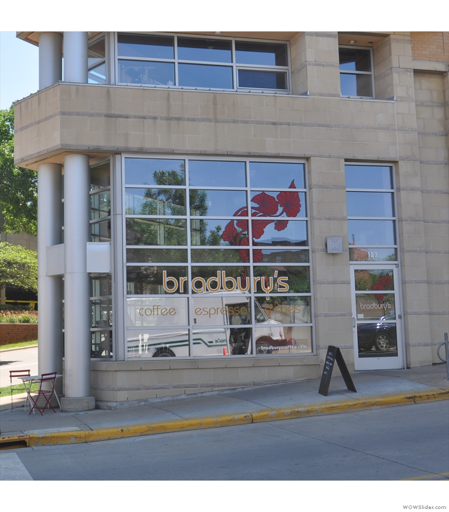 Bradbury's Coffee, the first non-roaster on the list, occupying a spot in central Madison.