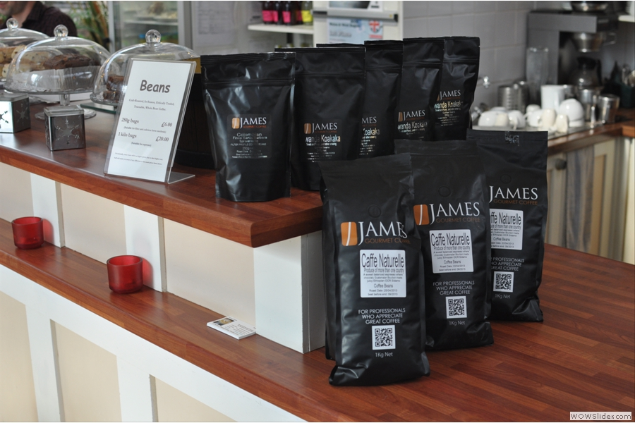 While I was there, all the coffee was from James Gourmet Coffee, but the Plan also has guest roasters.