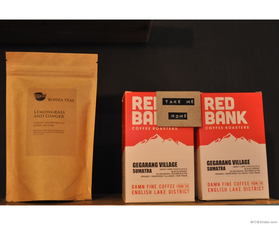 First up is Red Bank from the Lake District. You can also buy the beans to take home.