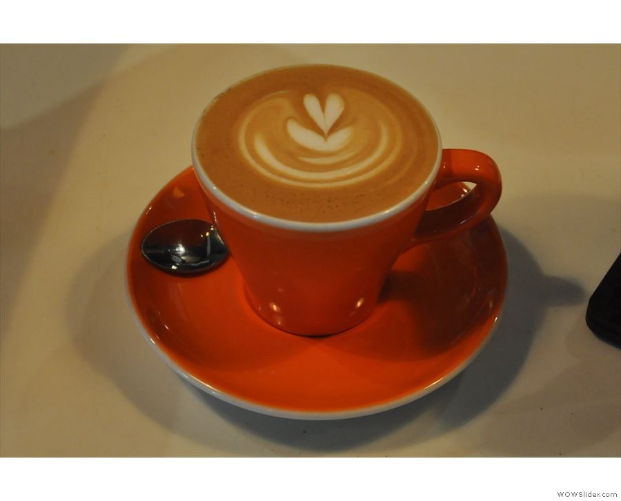 Just to prove it's not all pour-overs, here's a flat white for another customer.