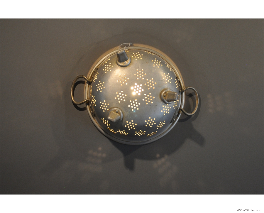This one, meanwhile, is made from an old colander...