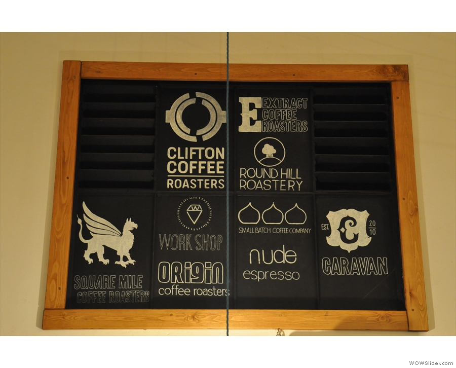 The hall of fame: the house-roaster & some of Small St Espresso's regular guests.