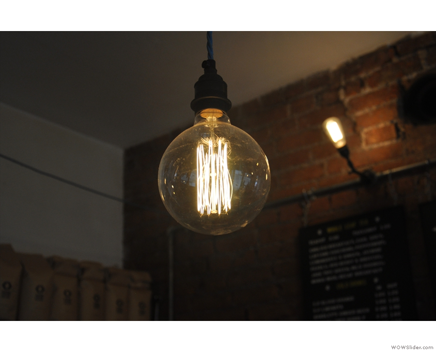 In fact, Small St Espresso is full of awesome light-bulbs...