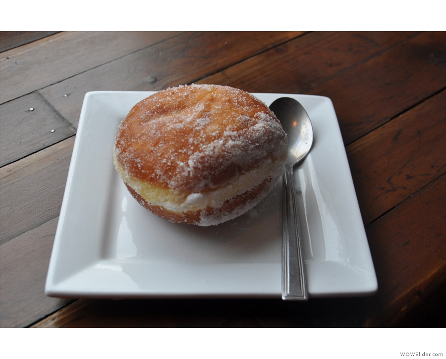 ... which I paired with an awesome chocolate custard doughnut.