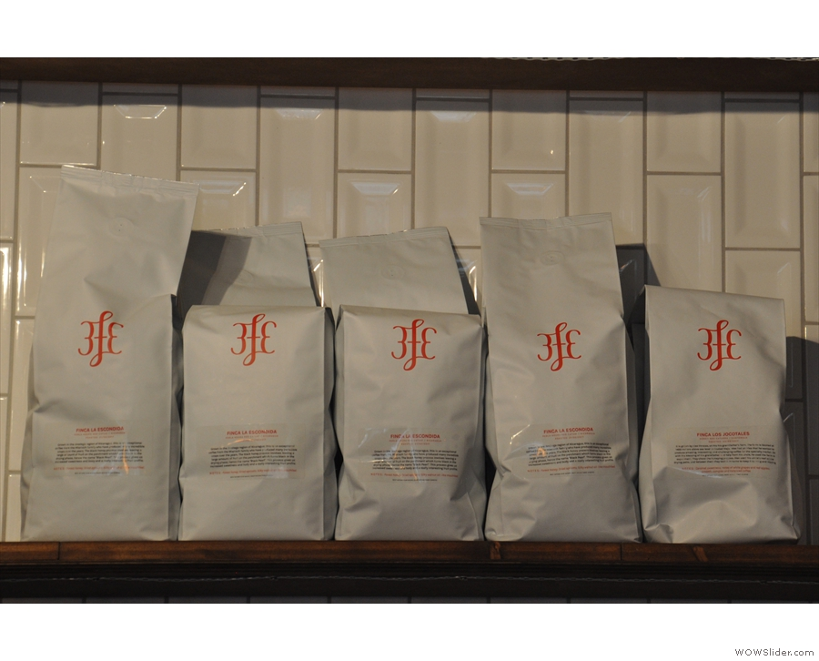 This, meanwhile, is The Pocket's supply, all from Dublin's venerable 3FE.
