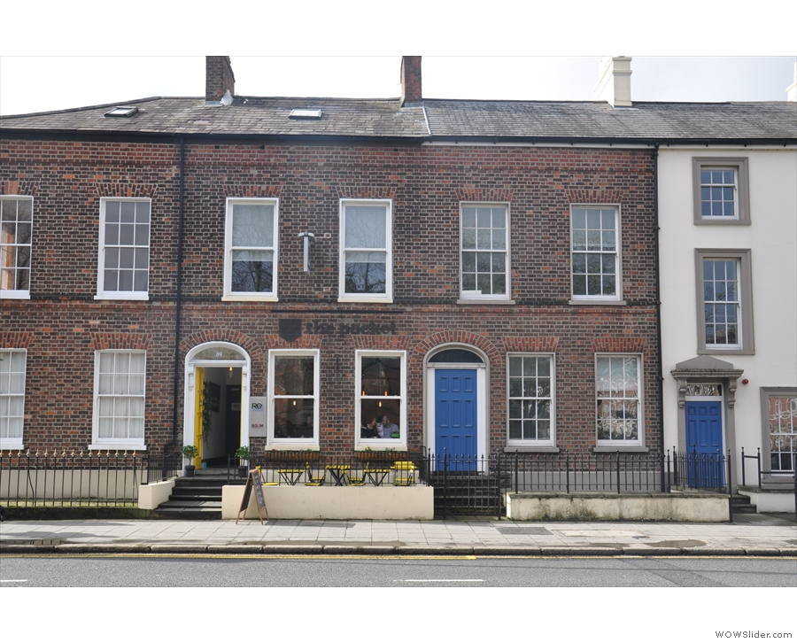 On University Road, south of Belfast city centre, you'll find this row of brick terraces...