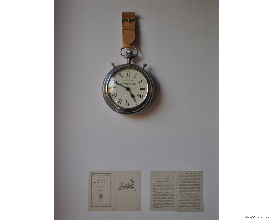 The Pocket is named after the White Rabbit's pocket watch from Alice in Wonderland.