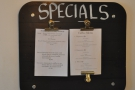 The aforementioned specials from the food menu.