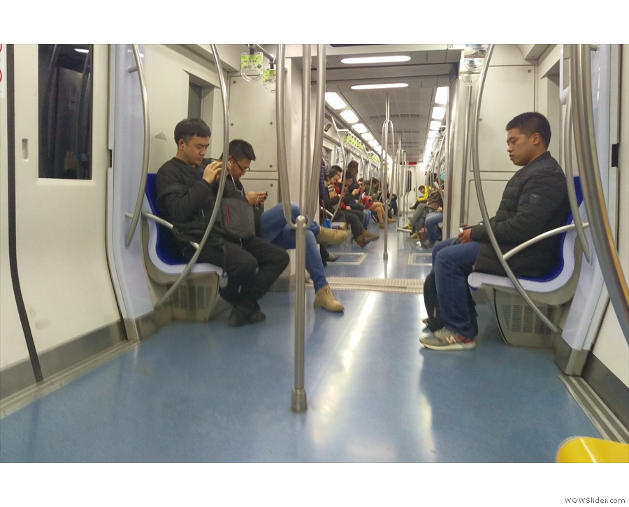 When in Shanghai (& Beijing, where this was taken) I used the metro to get around.