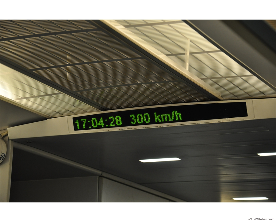 300 km/h! That's even faster! And sadly as fast as I would go on my way into Shanghai.