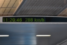 We cruise along at 300 km/h for almost four minutes, then start to slow down.