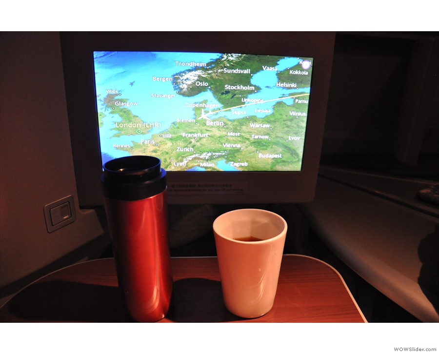 ... so I think that calls for the second coffee of the flight.