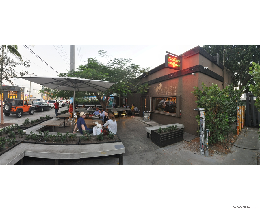 I did escape one evening though to visit to the lovely Panther Coffee in Wynwood...