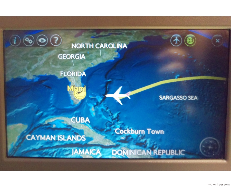 As we approach the Bahamas, it's time to get ready for landing. See you there!