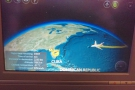 You can rotate the map in the A380. Ah! There's Miami.