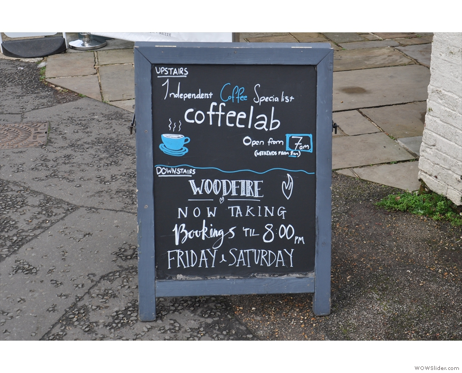 The A-board confirms it: this is the home to another branch of Coffee Lab!