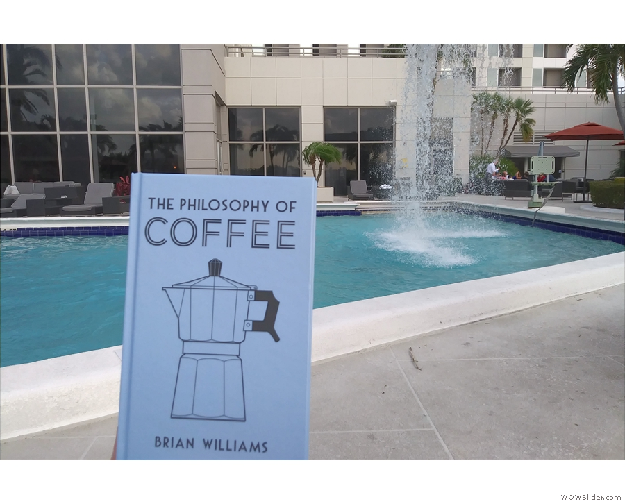 Meanwhile, I finally get to read my own book, sitting by the pool in Miami.