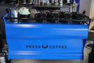 ... and followed, around the corner, by the Synesso, done out in Press Coffee blue.