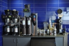 The rest of the filter coffee set-up is on the wall behind the espresso machine...