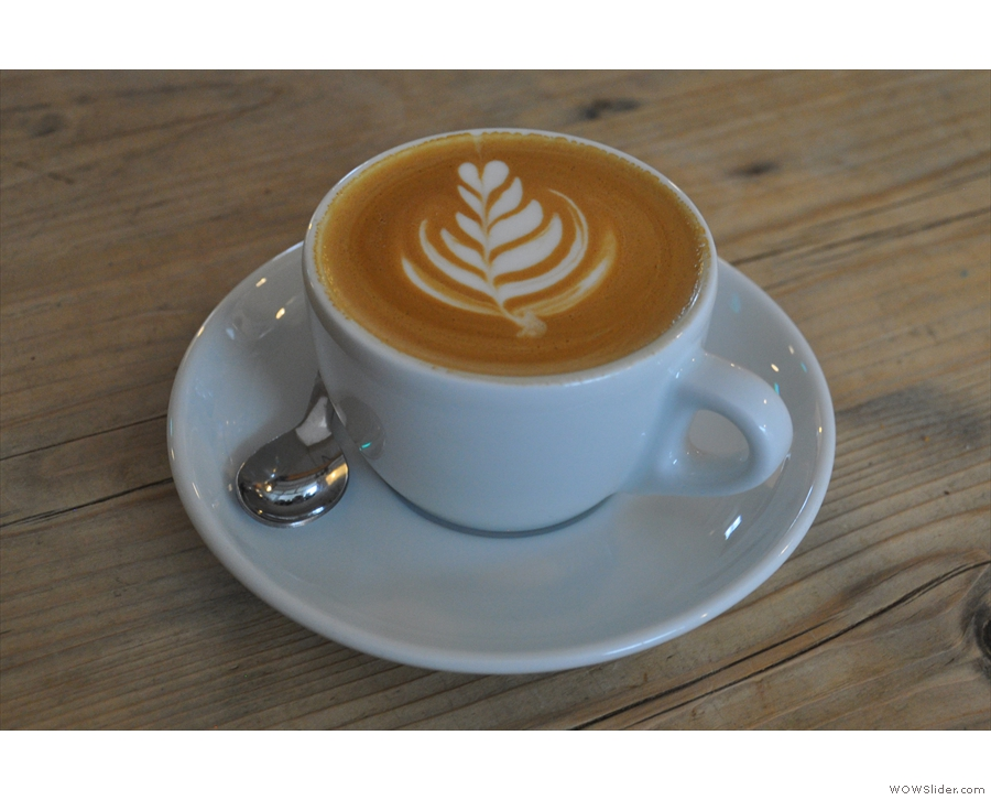 This is mine, a decaf flat white.