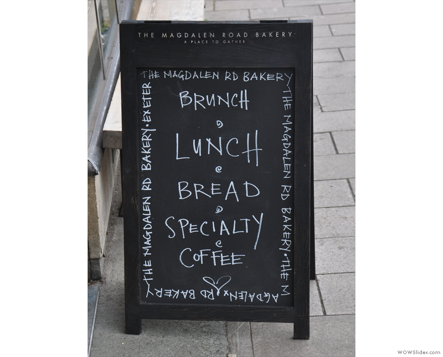 The A-board sums it up pretty nicely!