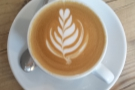 The latte art was very good and worth a second look...