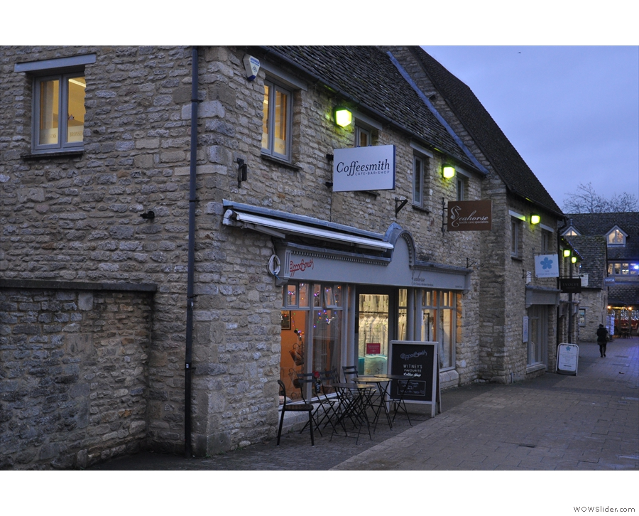 On the quiet, pedestrianised Langdale Gate in Witney, you'll find Coffeesmith.