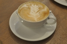 On my return just before Christmas, I had a flat white, caffeinated this time.