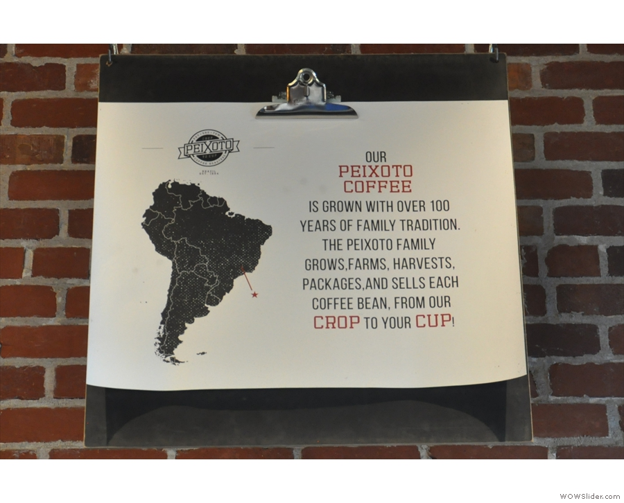 This is at the heart of Peixoto's philosophy, since it's the family farm down in Brazil!