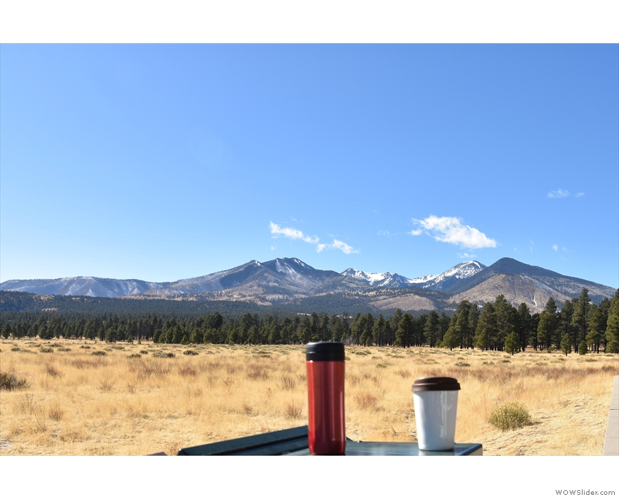 Next day, we were admiring the San Francisco Mountains north of Flagstaff.