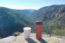 And finally, my coffee looks out to the south, along the canyon bottom.