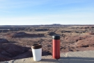 I'll leave you with a view out over the Painted Desert badlands near dusk.