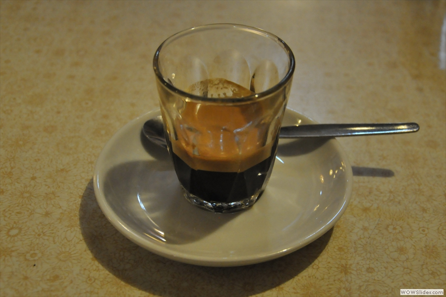 Cafe Boscanova, who made me this lovely espresso, is the first of three Coffee Spots shortlisted for Best Coffee Experience.