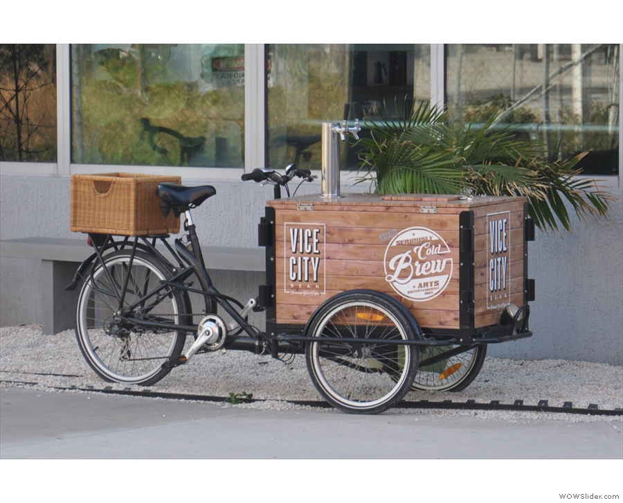 ... and Vice City Bean's cold brew tricycle.