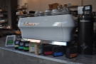 However, I'd come for espresso. This is the La Marzocco GB5...